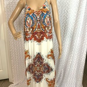 Flying Tomato Paisley Lined Maxi Dress